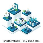 isometric doctors concept of... | Shutterstock .eps vector #1171565488