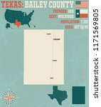 detailed map of bailey county... | Shutterstock .eps vector #1171569805