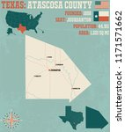 detailed map of atascos county... | Shutterstock .eps vector #1171571662