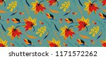 autumn leaves in cartoon style. ... | Shutterstock .eps vector #1171572262