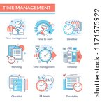 time management concept icons ... | Shutterstock .eps vector #1171575922