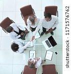 business people shaking hands ... | Shutterstock . vector #1171576762