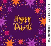 diwali greeting card with stars ... | Shutterstock .eps vector #1171577845