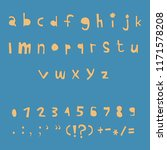 carved alphabet number and... | Shutterstock .eps vector #1171578208