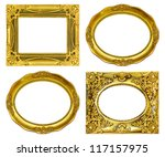 the antique gold frame on the... | Shutterstock . vector #117157975
