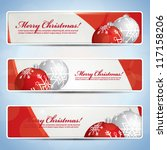 wide merry christmas banners | Shutterstock .eps vector #117158206