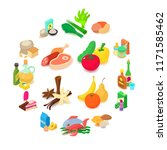 shop navigation foods icons set.... | Shutterstock . vector #1171585462