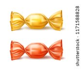 vector caramel candy in red ... | Shutterstock .eps vector #1171588828