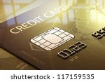 Glossy Credit Card Close Up In...