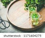 hot herbal mint tea drink in...   Shutterstock . vector #1171604275