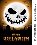 halloween night background... | Shutterstock .eps vector #1171620172