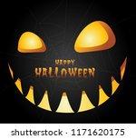 halloween night background with ... | Shutterstock .eps vector #1171620175