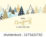 merry christmas and happy new... | Shutterstock .eps vector #1171621732