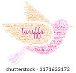 tariffs word cloud on a white...   Shutterstock .eps vector #1171623172