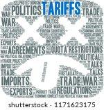 tariffs word cloud on a white...   Shutterstock .eps vector #1171623175
