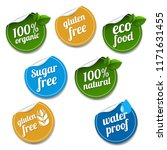 100  organic product labels set ... | Shutterstock .eps vector #1171631455