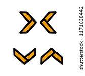 x abstract logo. vector... | Shutterstock .eps vector #1171638442