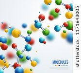 science banner with colorful 3d ... | Shutterstock .eps vector #1171643005