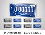 set montana auto license plate. ... | Shutterstock .eps vector #1171643038