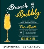 brunch and bubbly invitation.... | Shutterstock .eps vector #1171645192