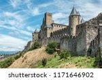 carcassonne   impressive... | Shutterstock . vector #1171646902