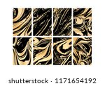 set of vector black and gold... | Shutterstock .eps vector #1171654192