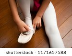 girl wear toe shoes | Shutterstock . vector #1171657588