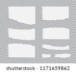 blank torn paper sheets set.... | Shutterstock .eps vector #1171659862
