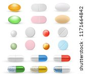 tablets and pills realistic set.... | Shutterstock .eps vector #1171664842