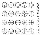 crosshairs icon set. focus of... | Shutterstock .eps vector #1171664845