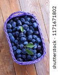 basket full of delicious plums  ... | Shutterstock . vector #1171671802