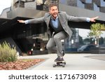 confident young businessman in... | Shutterstock . vector #1171673098