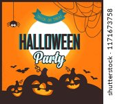 happy halloween poster. vector... | Shutterstock .eps vector #1171673758