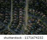 top down aerial drone image of... | Shutterstock . vector #1171674232