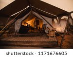 a luxury camping tent in the... | Shutterstock . vector #1171676605
