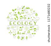 background with ecology icons.... | Shutterstock .eps vector #1171680232