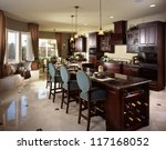 contemporary kitchen... | Shutterstock . vector #117168052
