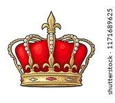 king crown. engraving vintage... | Shutterstock .eps vector #1171689625