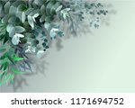 rame from eucalyptus leaves of... | Shutterstock .eps vector #1171694752