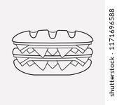 double sandwich icon line... | Shutterstock .eps vector #1171696588