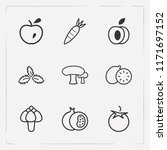 set of vitamin icons line style ... | Shutterstock .eps vector #1171697152