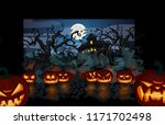 halloween theme creepy old... | Shutterstock .eps vector #1171702498