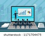 laptop screen view of a... | Shutterstock .eps vector #1171704475