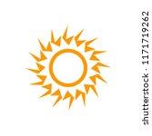 sun art deco vector seasons... | Shutterstock .eps vector #1171719262