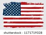 grunge usa flag.vintage flag of ... | Shutterstock .eps vector #1171719328
