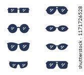 vector set of silhouette... | Shutterstock .eps vector #1171726528