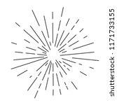 retro sun bursts  vintage... | Shutterstock .eps vector #1171733155
