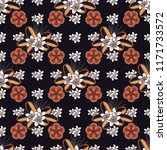 vector ditsy pattern with... | Shutterstock .eps vector #1171733572