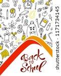 back to shool design poster.... | Shutterstock .eps vector #1171734145