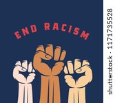 activist fists with different... | Shutterstock .eps vector #1171735528